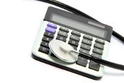 calculatrice-stéthoscope-argent-billet-prix
