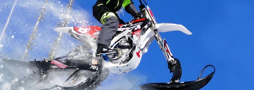 Timbersled transforme les motocross en motoneiges