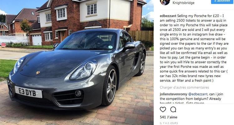Une Porsche pour seulement 20 euros, ça vous dit ?