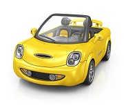 Voiture jaune : attention aux accidents !
