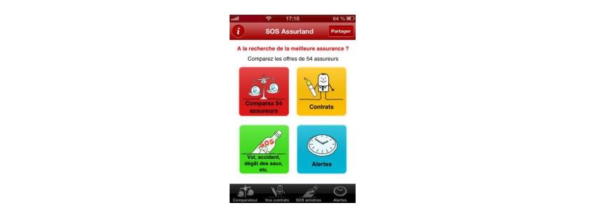 """Découvrez la fonctionnalité """"Sinistres"""" de l'application SOS ASSURLAND"""
