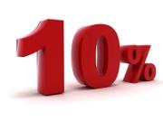 taux de 10%